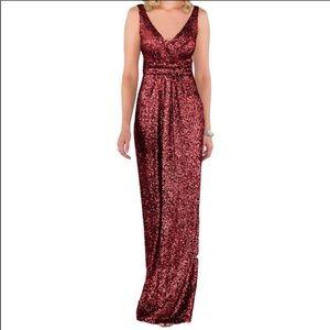 Sorella Vita Sequin Dress Crimson 16